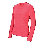 Womens Saucony LX V-Neck Long Sleeve No Zip Technical Tops