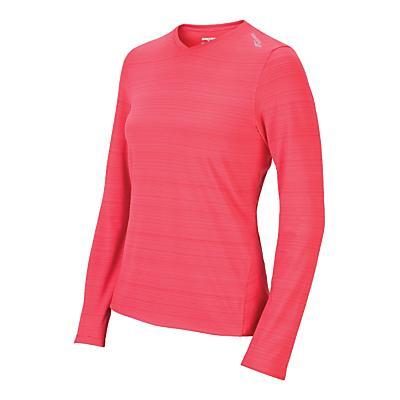 Womens Saucony LX V-Neck Long Sleeve No Zip Technical Tops
