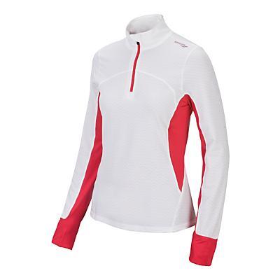 Womens Saucony Zenith Long Sleeve 1/2 Zip Technical Tops