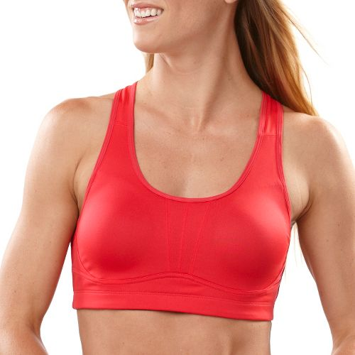 Womens Saucony Athlete Avenger Sports Bra - Lipstick M