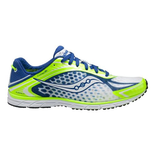 Mens Saucony Grid Type A5 Racing Shoe - Citron/Blue 12.5