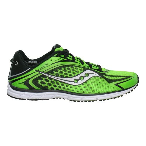 Mens Saucony Grid Type A5 Racing Shoe - Green/Black 7.5
