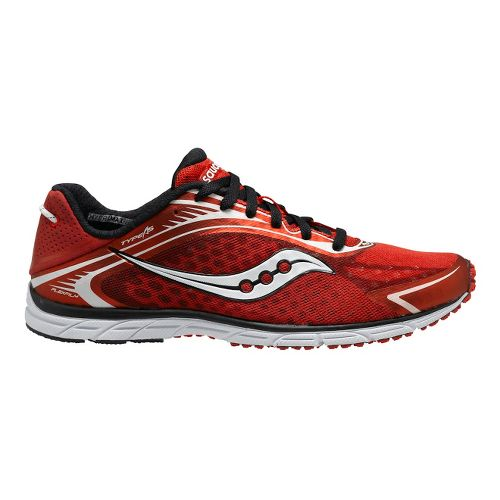 Mens Saucony Grid Type A5 Racing Shoe - Red/White 12.5