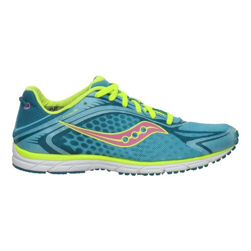 Womens Saucony Grid Type A5 Racing Shoe - Blue/Citron 11.5