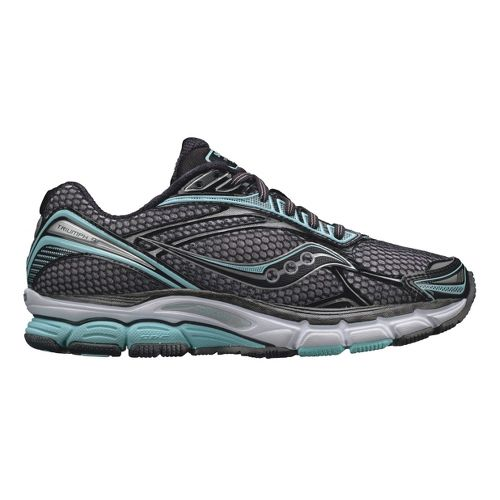 Womens Saucony PowerGrid Triumph 9 Running Shoe - Black/Mint 10.5