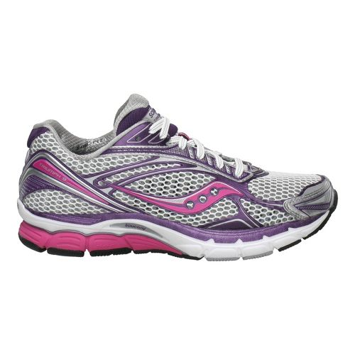 Womens Saucony PowerGrid Triumph 9 Running Shoe - White/Pink 5