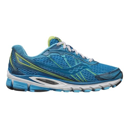 Womens Saucony ProGrid Ride 5 Running Shoe - Blue/Citron 8.5