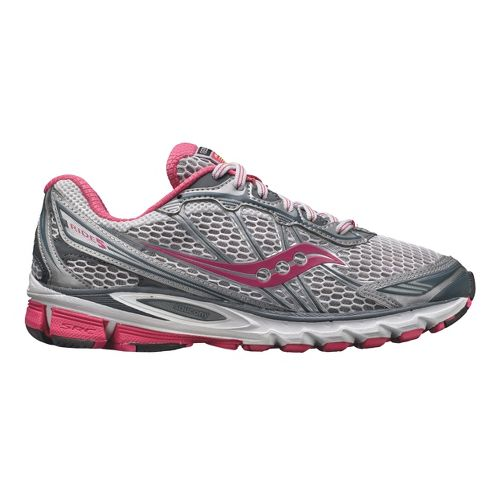 Womens Saucony ProGrid Ride 5 Running Shoe - Grey/Pink 8.5