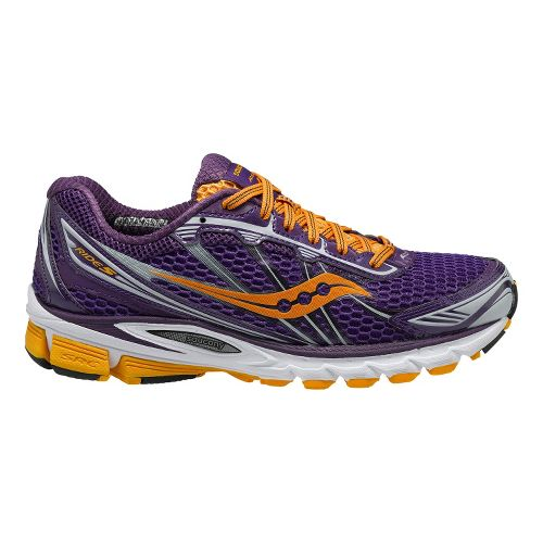 Womens Saucony ProGrid Ride 5 Running Shoe - Purple/Orange 7.5