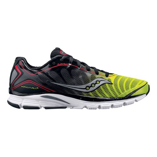 Men's Saucony ProGrid Kinvara 3 Running Shoe - Black/Citron 14
