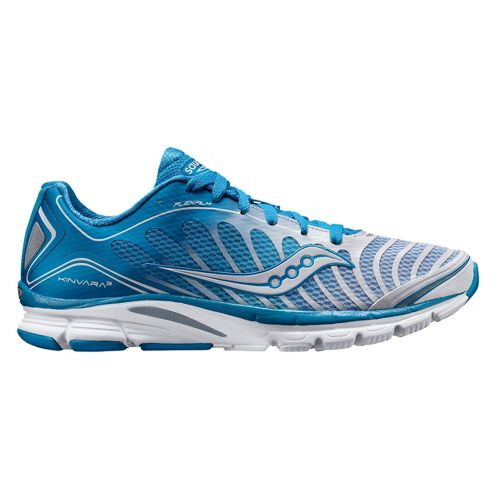 Womens Saucony ProGrid Kinvara 3 Running Shoe - Blue/White 10.5