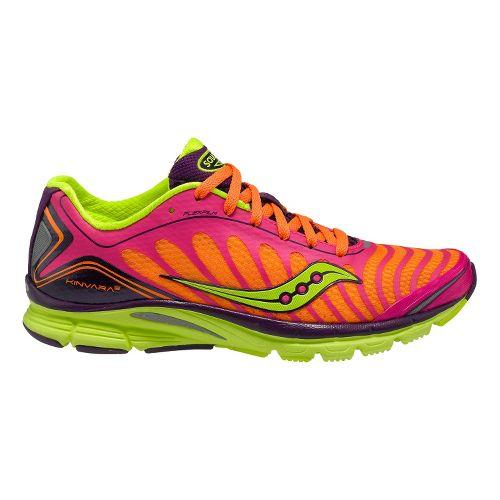 Womens Saucony ProGrid Kinvara 3 Running Shoe - Pink/Citron 7