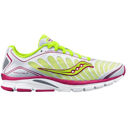 Womens Saucony ProGrid Kinvara 3 Running Shoe - White/Citron 10.5