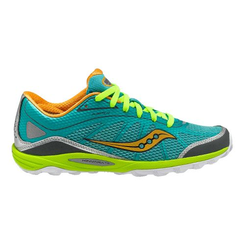 Womens Saucony ProGrid Kinvara TR Trail Running Shoe - Teal/Citron 11