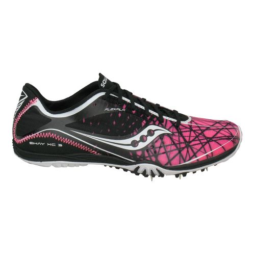 Womens Saucony Shay XC3 Spike Cross Country Shoe - Black/Pink 7.5