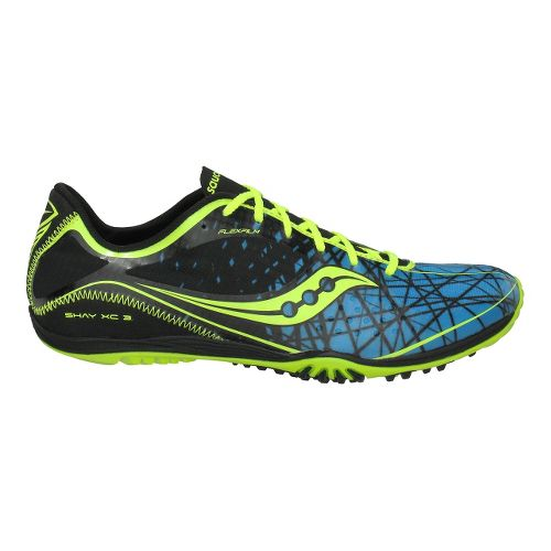 Mens Saucony Shay XC3 Flat Cross Country Shoe - Black/Blue 12.5