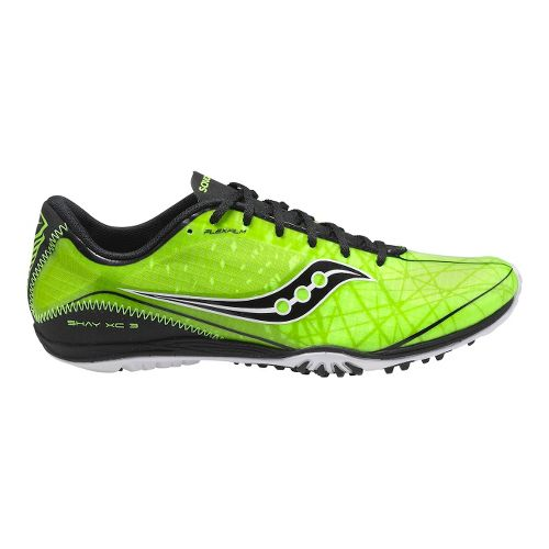 Mens Saucony Shay XC3 Flat Cross Country Shoe - Citron/Black 12.5