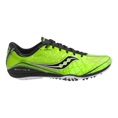 Mens Saucony Shay XC3 Flat Cross Country Shoe - Citron/Black 7.5