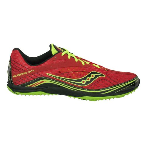 Mens Saucony Kilkenny XC4 Flat Cross Country Shoe - Red/Citron 7.5