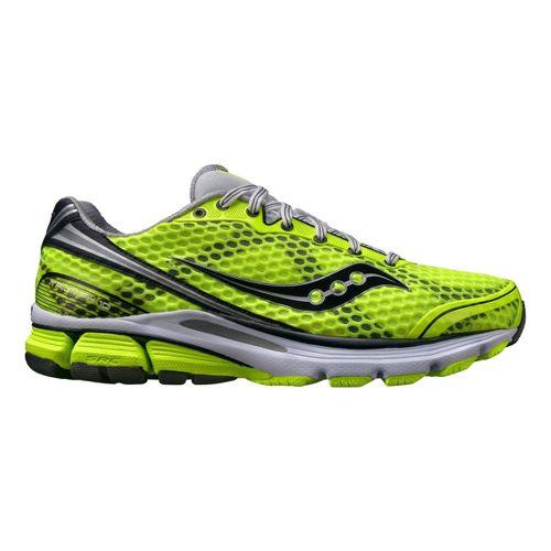 Mens Saucony PowerGrid Triumph 10 Running Shoe - Citron 8.5