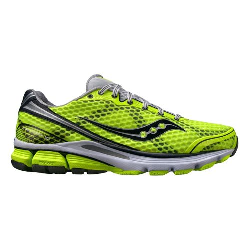 Mens Saucony PowerGrid Triumph 10 Running Shoe - Citron 9.5