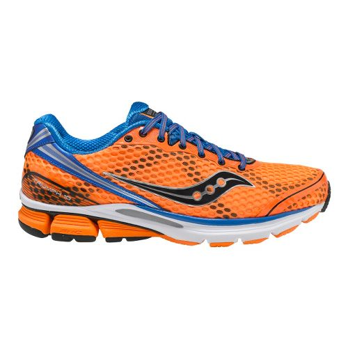 Mens Saucony PowerGrid Triumph 10 Running Shoe - Vizipro Orange/Blue 14