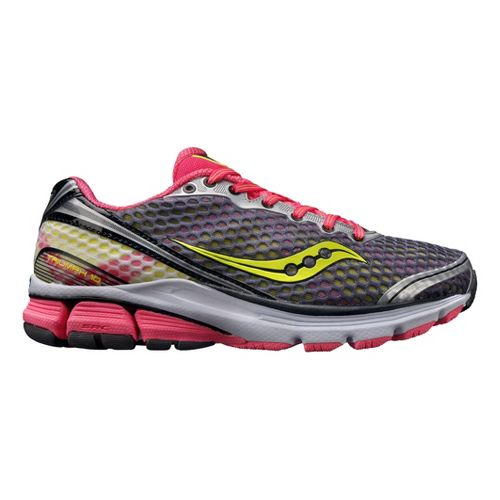 Womens Saucony PowerGrid Triumph 10 Running Shoe - Grey/Pink 9