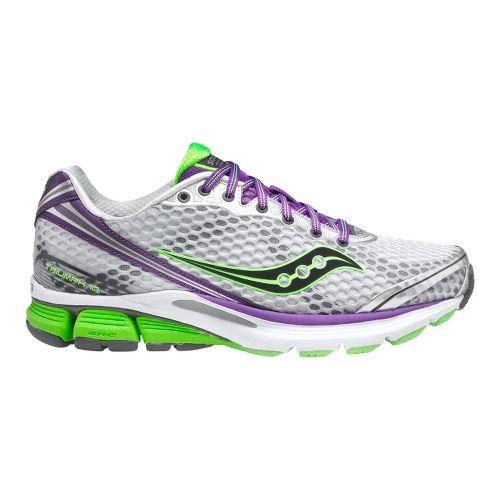 Womens Saucony PowerGrid Triumph 10 Running Shoe - Silver/Purple 5
