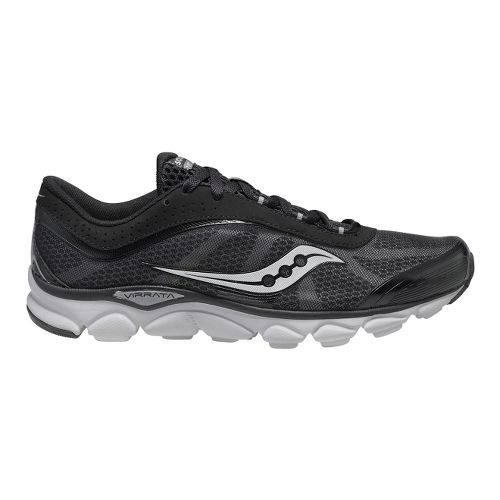 Mens Saucony Virrata Running Shoe - Black/Grey 14