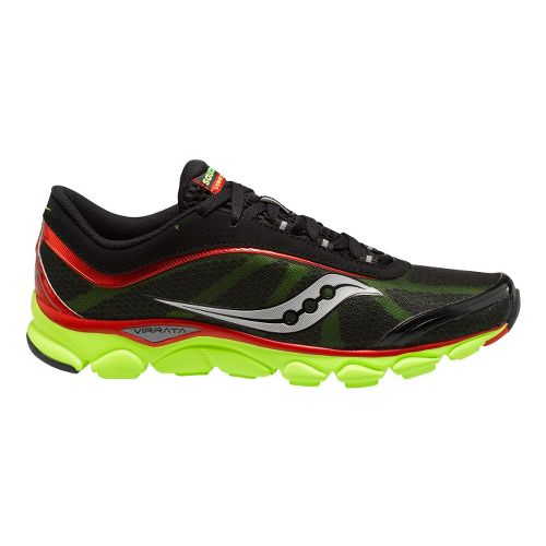 Mens Saucony Virrata Running Shoe - Black/Red 12