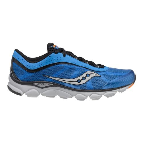 Mens Saucony Virrata Running Shoe - Blue/Black 7.5