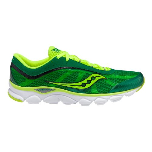 Mens Saucony Virrata Running Shoe - Green/Citron 11