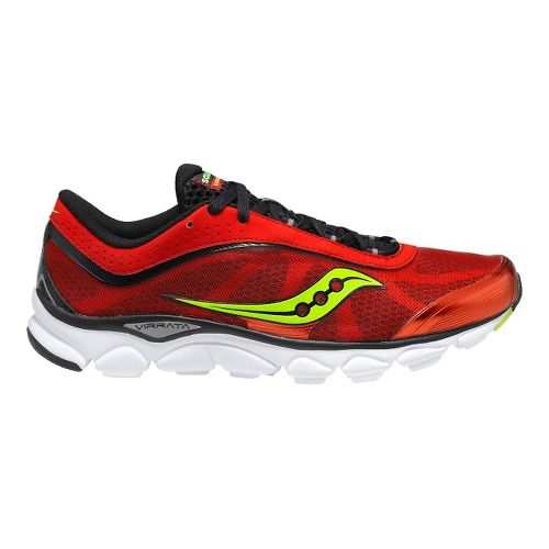 Mens Saucony Virrata Running Shoe - Red/Black 12