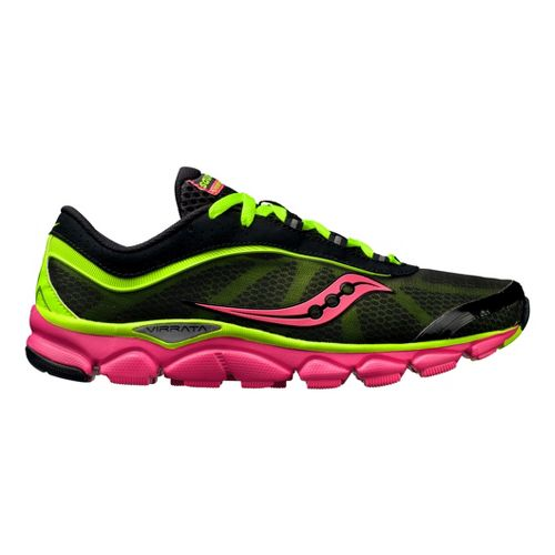 Womens Saucony Virrata Running Shoe - Black/Citron 9.5