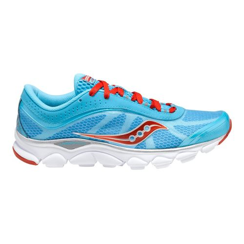 Womens Saucony Virrata Running Shoe - Blue/Red 6.5