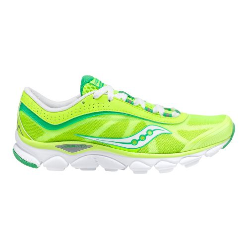 Womens Saucony Virrata Running Shoe - Citron/Green 7.5