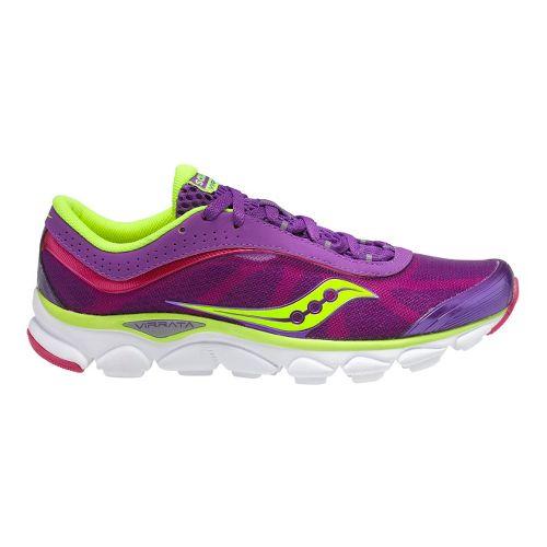 Womens Saucony Virrata Running Shoe - Purple/Citron 10.5