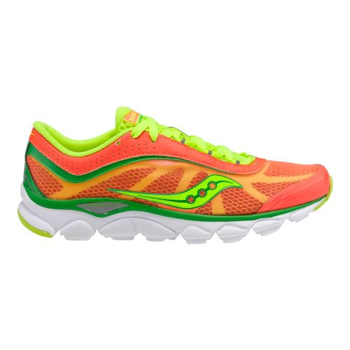 Womens Saucony Virrata Running Shoe - Vizipro Coral/Green 7.5
