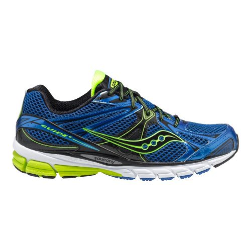 Mens Saucony ProGrid Guide 6 Running Shoe - Blue/Citron 13
