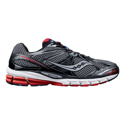 Mens Saucony ProGrid Guide 6 Running Shoe - Grey/Red 10.5