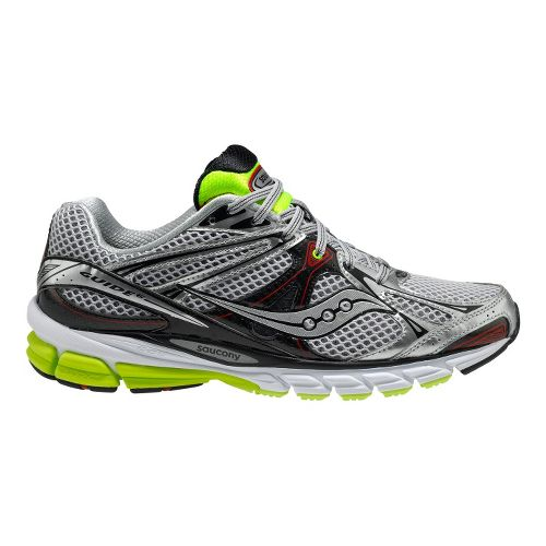 Mens Saucony ProGrid Guide 6 Running Shoe - Silver/Citron 12.5
