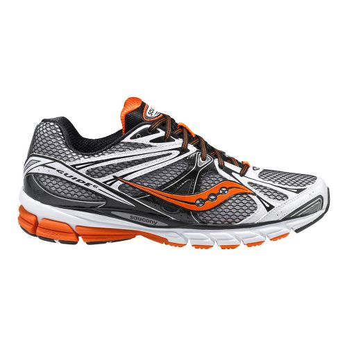Mens Saucony ProGrid Guide 6 Running Shoe - White/Black 12