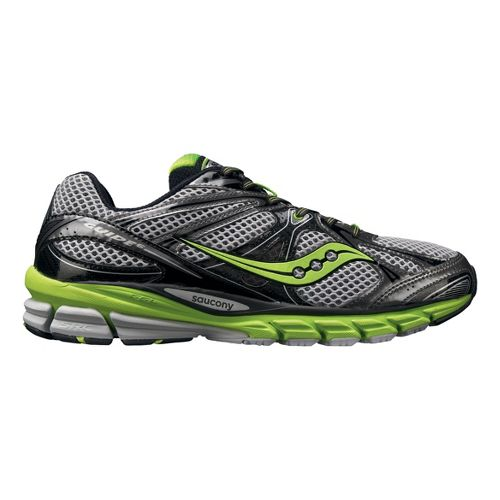 Mens Saucony ProGrid Guide 6 Running Shoe - White/Green 11.5