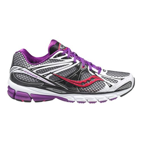 Womens Saucony ProGrid Guide 6 Running Shoe - White/Black 5.5