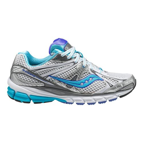 Womens Saucony ProGrid Guide 6 Running Shoe - White/Blue 6.5