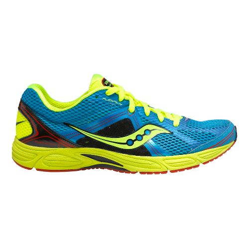 Mens Saucony Grid Fastwitch 6 Running Shoe - Blue/Citron 8.5