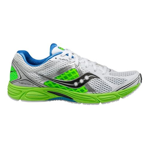 Mens Saucony Grid Fastwitch 6 Running Shoe - Lime/Blue 10.5