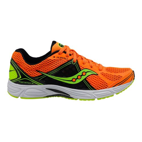 Mens Saucony Grid Fastwitch 6 Running Shoe - Orange/Black 14