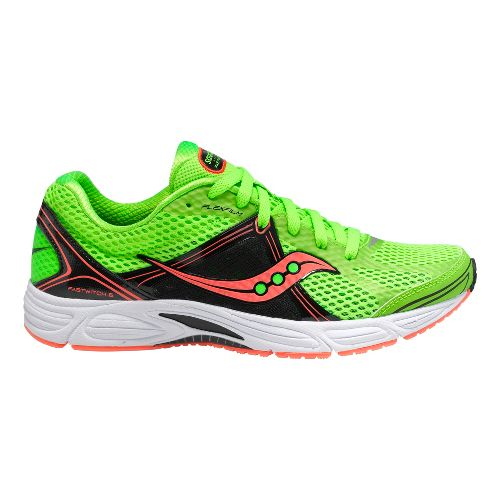 Womens Saucony Grid Fastwitch 6 Running Shoe - Green/Coral 7