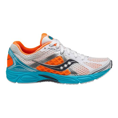 Womens Saucony Grid Fastwitch 6 Running Shoe - Light Blue/Orange 7.5